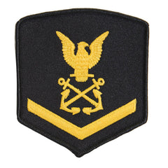 USNSCC - PO3 with (1 Stripe) Sea Cadet Rating Badge Male (Gold on Black)