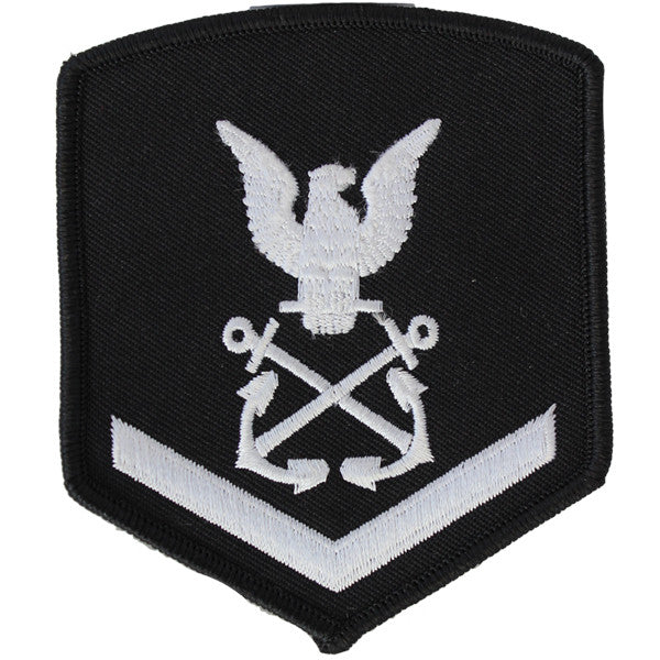 NLCC - PO3 with (1 Stripe) NLCC Cadet Rating Badge Female (White on Black)