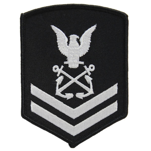 NLCC - PO2 with (2 Stripes) NLCC Cadet Rating Badge Female (White on Black)