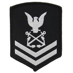 NLCC - PO2 with (2 Stripes) NLCC Cadet Rating Badge Male (White on Black)