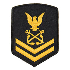 USNSCC - PO2 with (2 Stripes) Sea Cadet Rating Badge Female (Gold on Black)