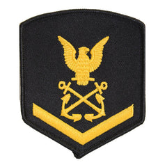 USNSCC - PO3 with (1 Stripe) Sea Cadet Rating Badge Female (Gold on Black)