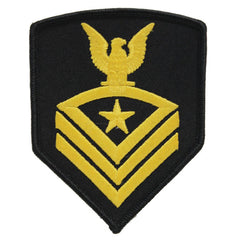 USNSCC - CPO (Black) Sea Cadet Rating Badge Female (Gold on Black)