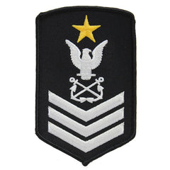NLCC - Ship's Leading Petty Officer NLCC Cadet Rating Badge Female (White on Black)