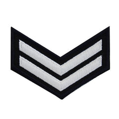 NLCC - E-2 (2 Stripes) NLCC Cadet Rating Badge Male (White on Black)