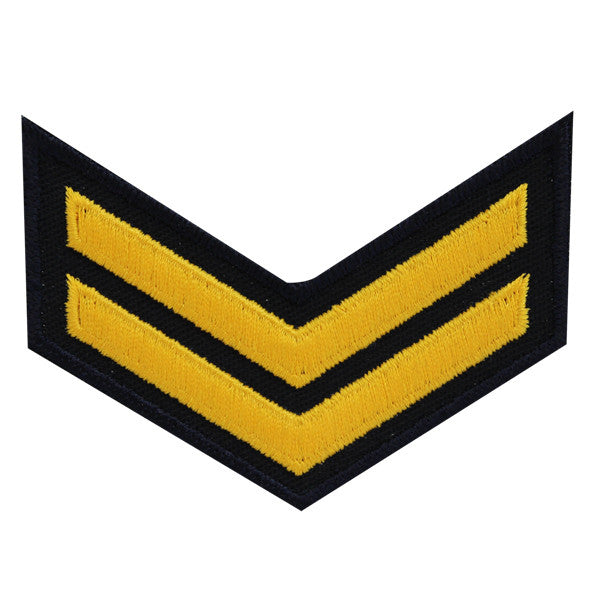 USNSCC - E-2 (2 Stripes) Sea Cadet Rating Badge Male (Gold on Black)