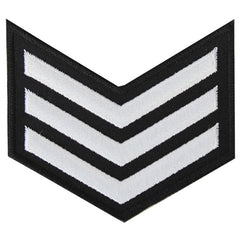 NLCC - E-3 (3 Stripes) NLCC Cadet Rating Badge Male (White on Black)