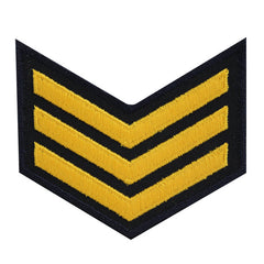 USNSCC - E-3 (3 Stripes) Sea Cadet Rating Badge Male (Gold on Black)
