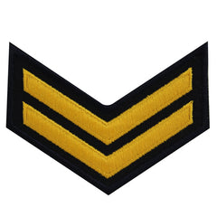 USNSCC - E-2 (2 Stripes) Sea Cadet Rating Badge Female (Gold on Black)