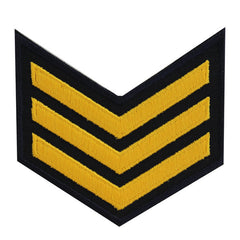 USNSCC - E-3 (3 Stripes) Sea Cadet Rating Badge Female (Gold on Black)