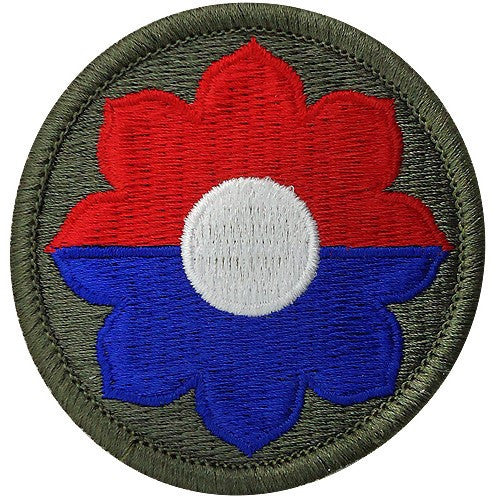 Army Patch: 9th Infantry Division - color