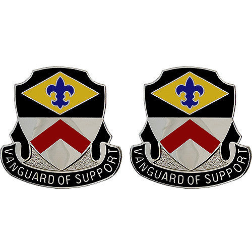 Army Crest: 9th Finance Battalion - Vanguard of Support