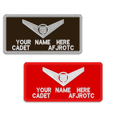 Air Force JROTC / ROTC - Cloth Name Patch  - Single Emblem w/Hook Closure -  (NAME IS REQUIRED-IF NO NAME IS GIVEN LINE ITEM WILL BE CANCELLED)