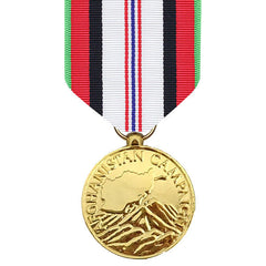 Full Size Medal: Afghanistan Campaign - anodized