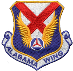 Civil Air Patrol Patch: (NEW) Alabama Wing w/ HOOK