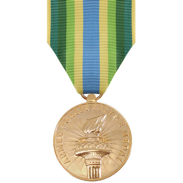 Full Size Medal: Armed Force Service Medal - 24k Gold Plated