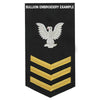 Navy E6 MALE Rating Badge: Aerographer's Mate - blue