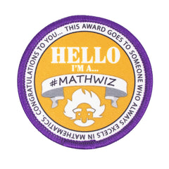 Brat Patch: #MATHWIZ