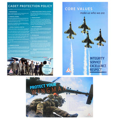 Civil Air Patrol: Cadet Protection Policy Posters (set of 3)