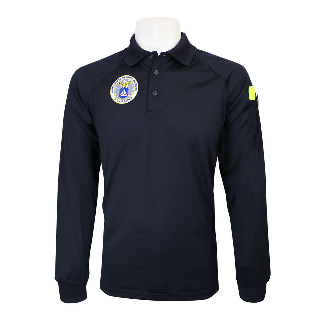 Civil Air Patrol Uniform: Tactical Golf Shirt with Seal (Long-Sleeve) - male **PLEASE CHECK THE SIZE MEASUREMENTS**