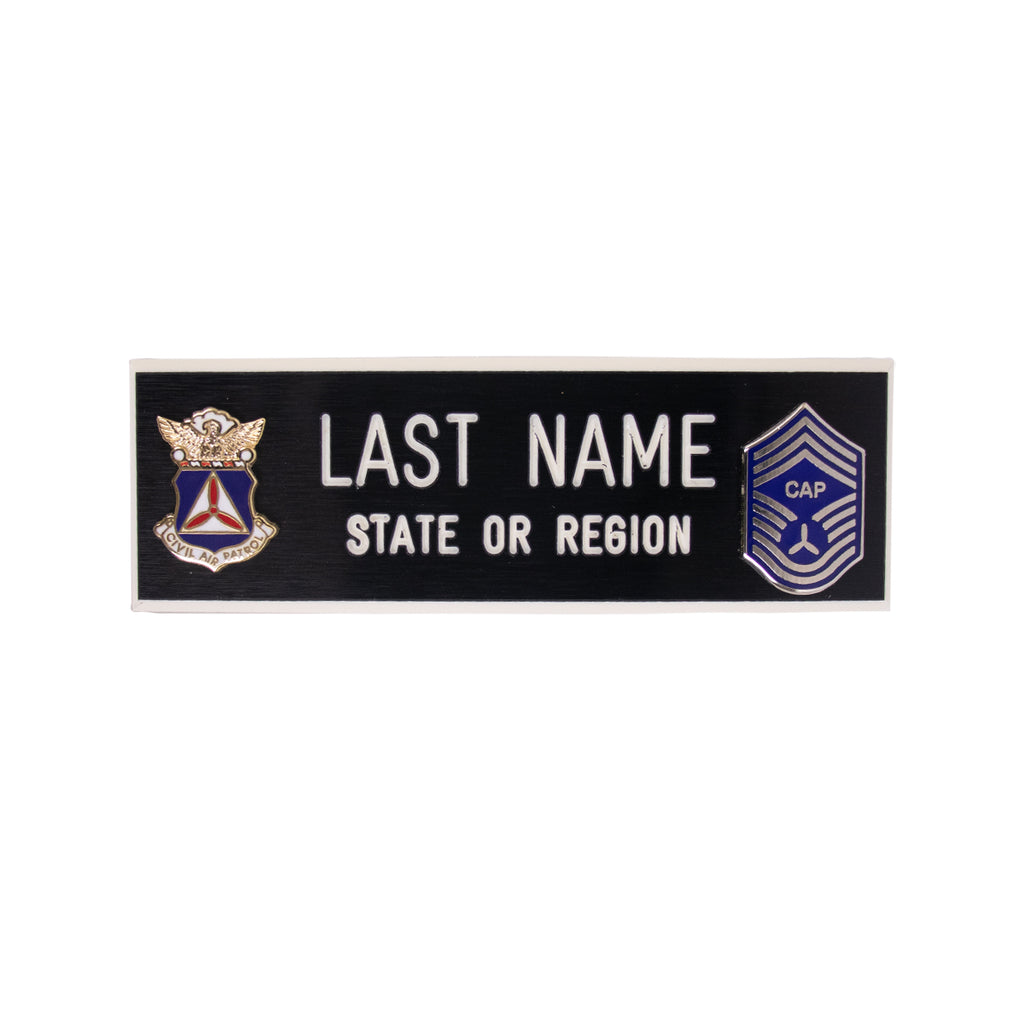Civil Air Patrol Blazer Name Plate: CMSGT