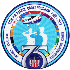 CAP- 75th Anniversary: Cadet Patch (round)