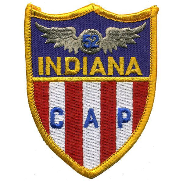 Civil Air Patrol Patch: Indiana Wing w/ HOOK