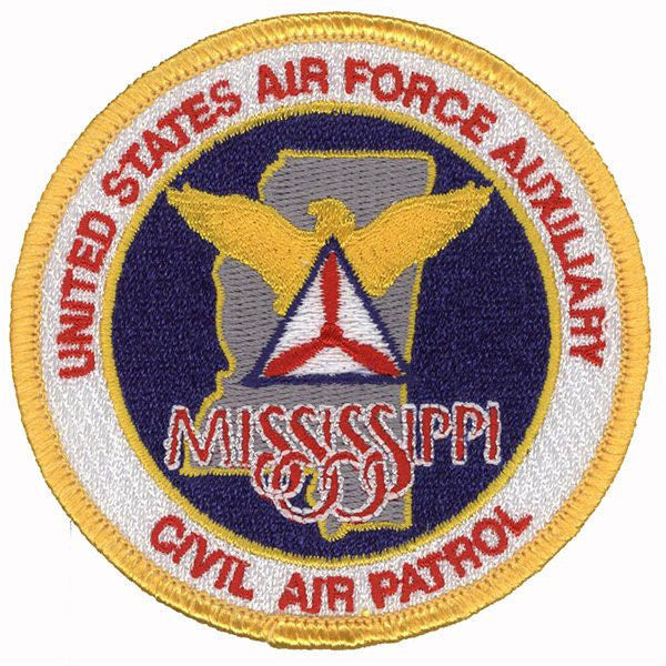 Civil Air Patrol Patch: Mississippi Wing w/ HOOK
