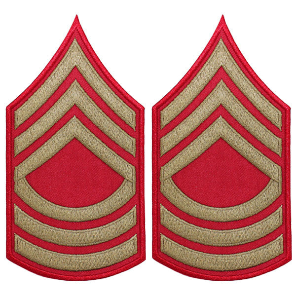 CAP WWII Stripe: Master Sergeant (Gold on Red)