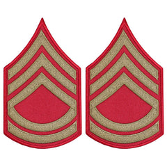 CAP WWII Stripe: Tech Sergeant (Gold on Red)