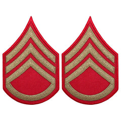 CAP WWII Stripe: Staff Sergeant (Gold on Red)