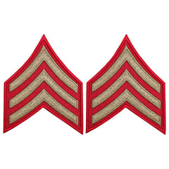 CAP WWII Stripe: Sergeant (Gold on Red)
