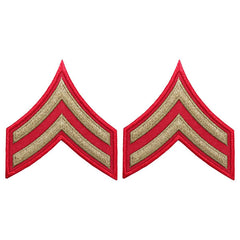 CAP WWII Stripe: Corporal (Gold on Red)