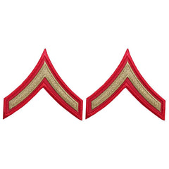 CAP WWII Stripe: Private First Class (Gold on Red)