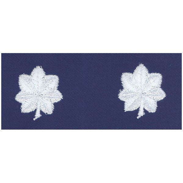 CAP Cloth Insignia: Lieutenant Colonel - white on ultramarine blue