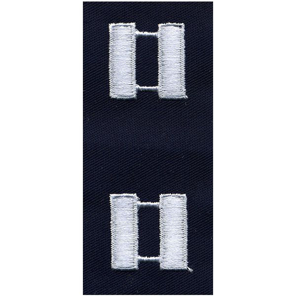Civil Air Patrol Senior Grade Cloth Insignia: Captain - navy blue