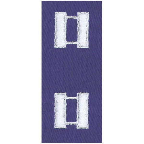 Civil Air Patrol Senior Grade Cloth Insignia: Captain - ultramarine blue