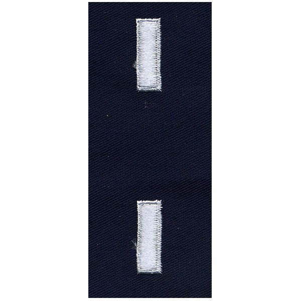 Civil Air Patrol Senior Grade Cloth Insignia: First Lieutenant - navy blue
