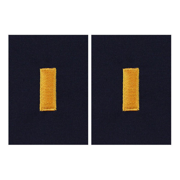 CAP Senior Grade Cloth Insignia: Second Lieutenant - navy blue