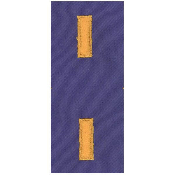 CAP Senior Grade Cloth Insignia: Second Lieutenant - ultramarine blue