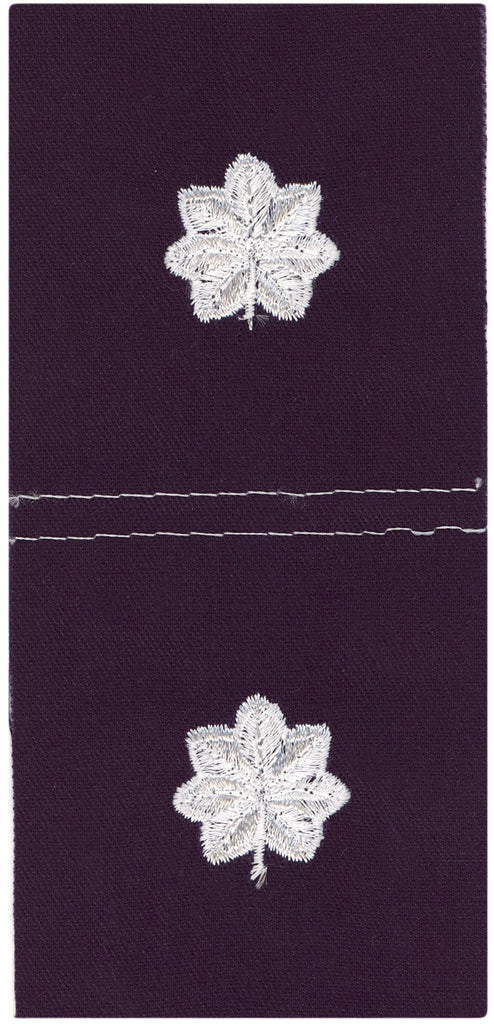 Civil Air Patrol Cloth Insignia: Lieutenant Colonel - white on navy blue