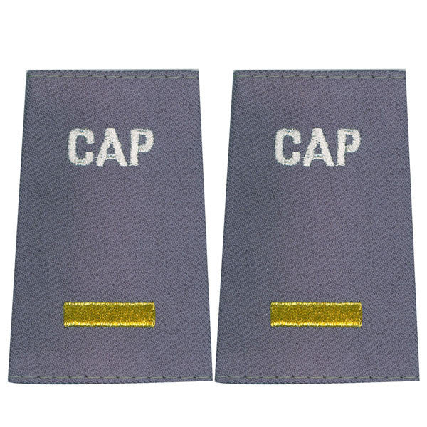 Civil Air Patrol Grey Epaulet: Second Lieutenant - female