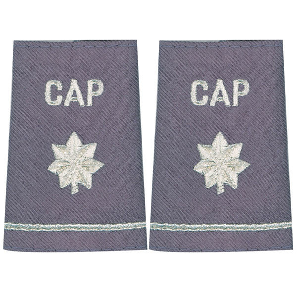 Civil Air Patrol Grey Epaulet: Lieutenant Colonel - female