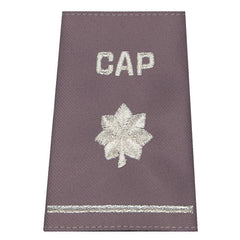 Civil Air Patrol Grey Epaulets: Lieutenant Colonel - hook and loop - unisex
