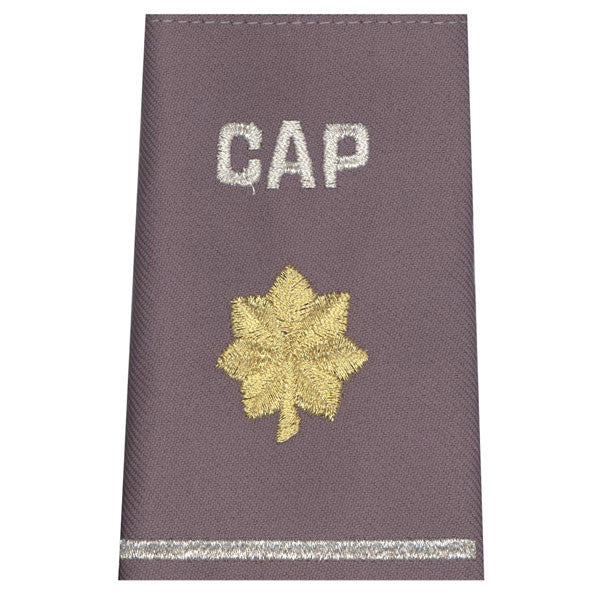 Civil Air Patrol Grey Epaulets: Major - hook and loop - unisex