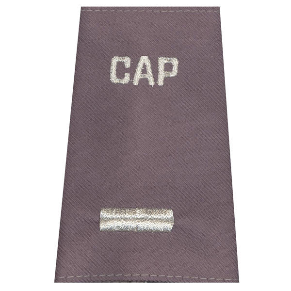 Civil Air Patrol Grey Epaulets: First Lieutenant - hook and loop - unisex