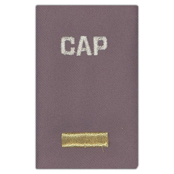 Civil Air Patrol Grey Epaulets: Second Lieutenant - hook and loop - unisex
