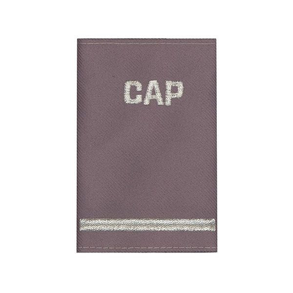Civil Air Patrol Grey Epaulet: Flight Officer - hook and loop - unisex