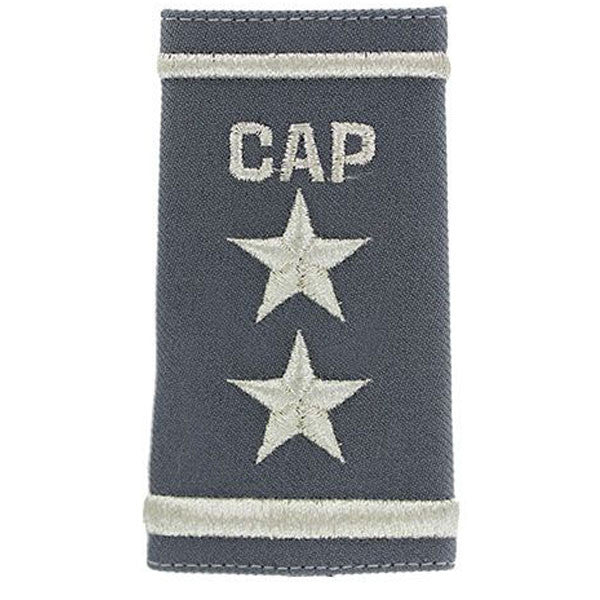 Civil Air Patrol: Grey Epaulets, Major General Epaulets, hook and loop
