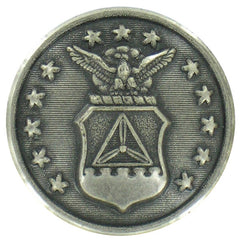 Civil Air Patrol Button: 36 ligne silver oxidized